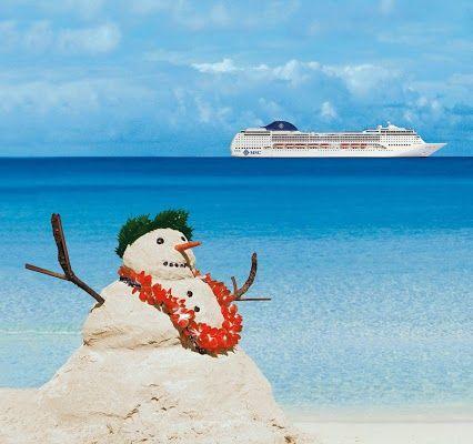 Muñeco de Arena ^_^ por Navidad #navidadesencrucero  #cruceros #viajes #vacaciones #msc