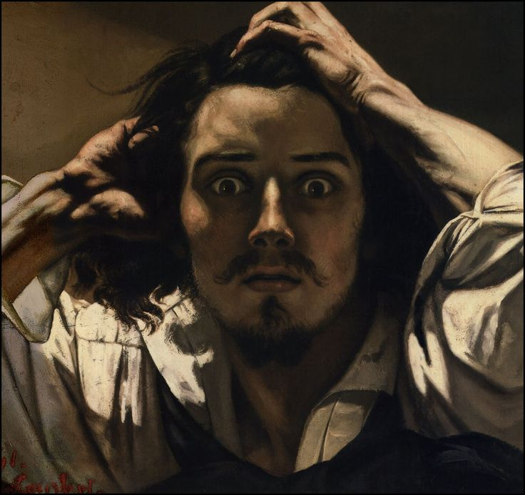 The Desperate man by Gustav Courbet - I can't even describe my impression, when i look at his face.
