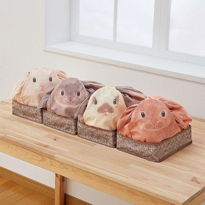 Agora Você Vai Querer Guardar As Coisas De Casa Nestas Sacolas De Coelho Do Japão