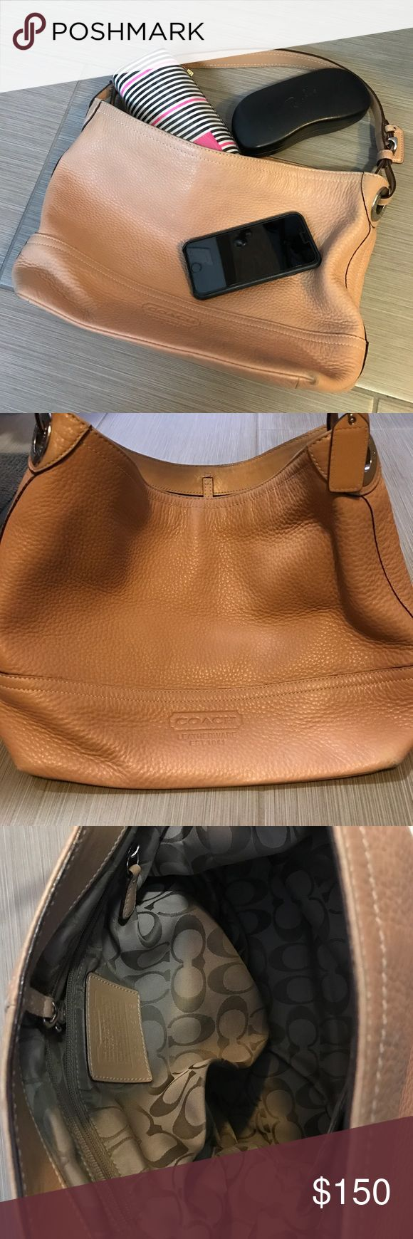 designer for discount coach bags outlet store by25  Coach leather purse  Authentic Coach leather purse in a beautiful tan  color Inner pockets