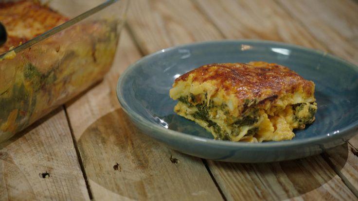 Lasagne met boerenkool, pompoen en kip | Dagelijkse kost