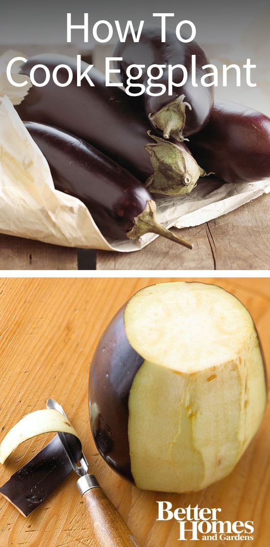 How to Cook Eggplant by bhg: While eggplant is rarely eaten raw, it is quite delicious and versatile when cooked. Because it is so hearty, eggplant makes an ideal meat substitute or side dish. Learn how to cook eggplant including how to grill it, roast it, saute it, and microwave it, and try our favorite eggplant recipes. #Eggplant