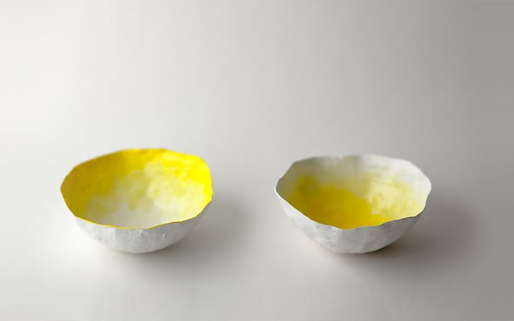 Up in the Air Somewhere | Small Yellow Bowls
