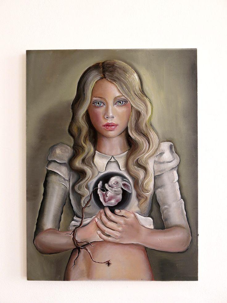 Stefania Santarcangelo Suprasensible Reality_La realtà soprasensibile, 2015 Oil on wood, h 48 x b 35 cm