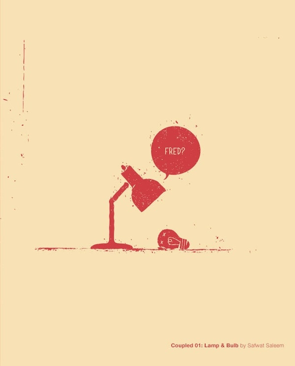 Funny Posters Illustrate The Emotional Relationships Between Inanimate Objects