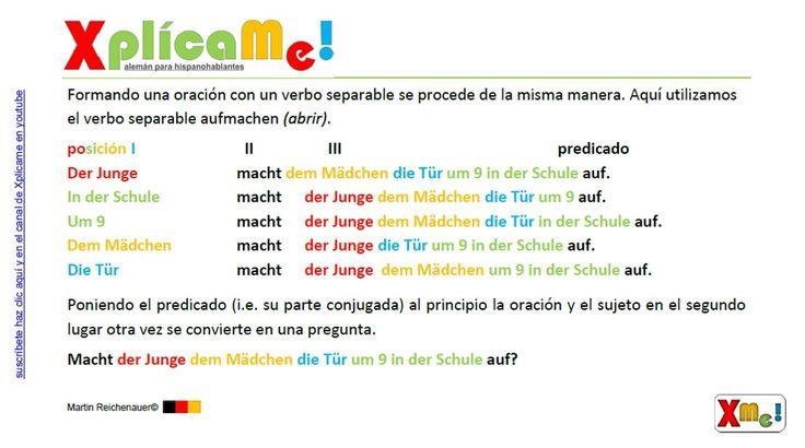 """Lección #62 """"El orden en la oración principal y sus variaciones"""" Mas material www.xplicame.com"""
