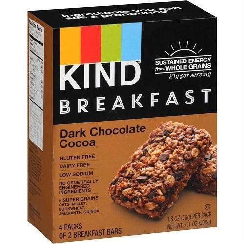 Kind Breakfast Bars Dark Chocolate Cocoa (8x4 Pack)