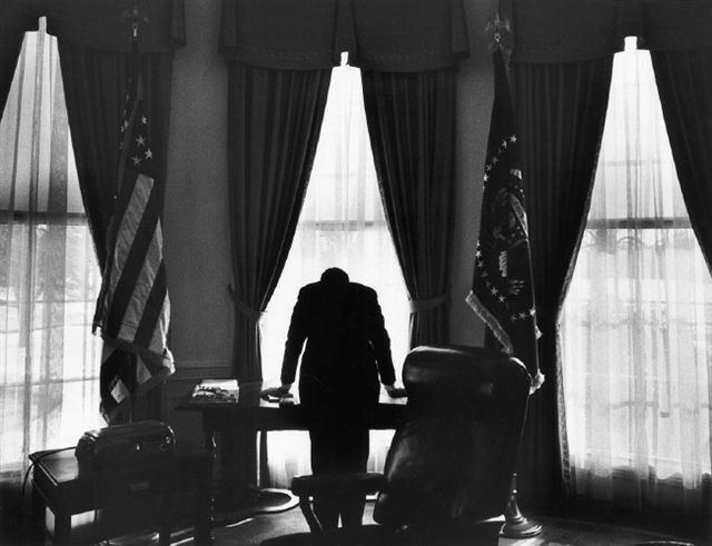 This photograph is what got me into photography. President JFK by George Tames, 1961