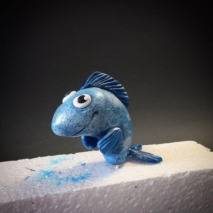 figure blue fish