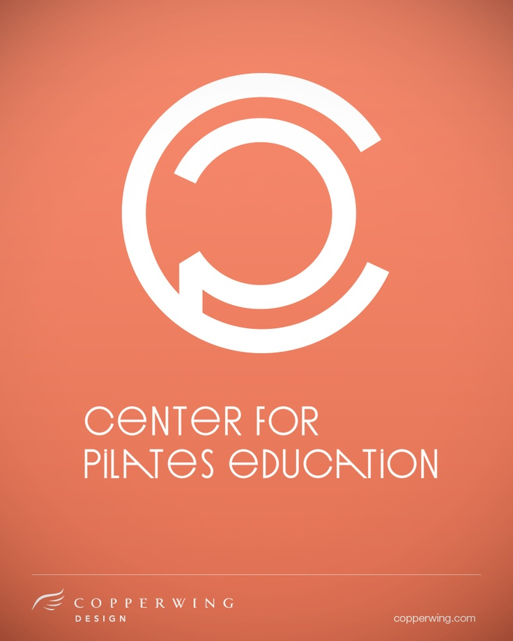 center for pilates education logo by copperwing design   copperwing com