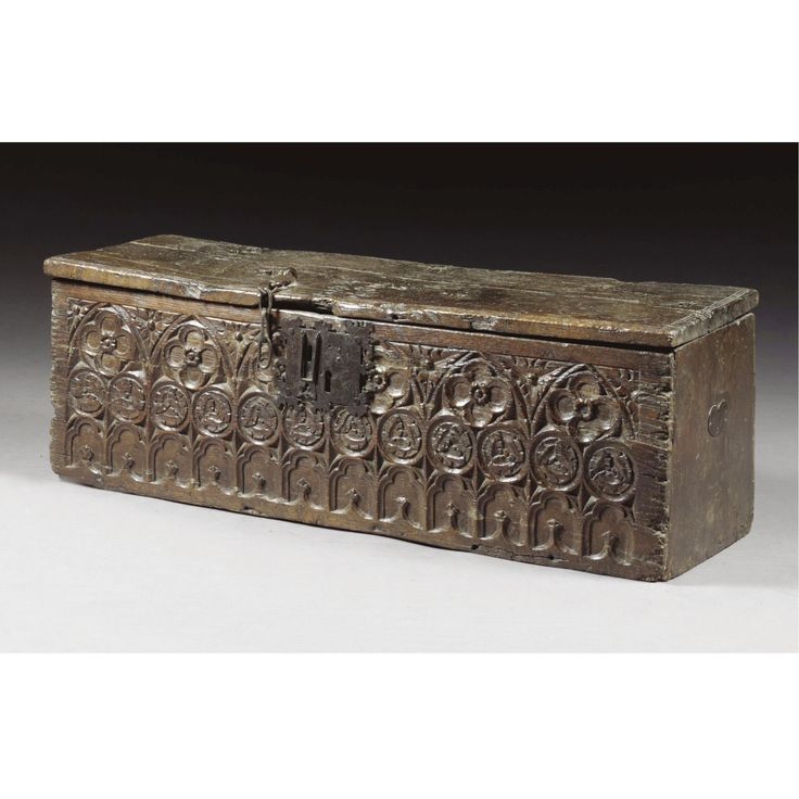A rare boarded chest, Gothic, 15th/16th century