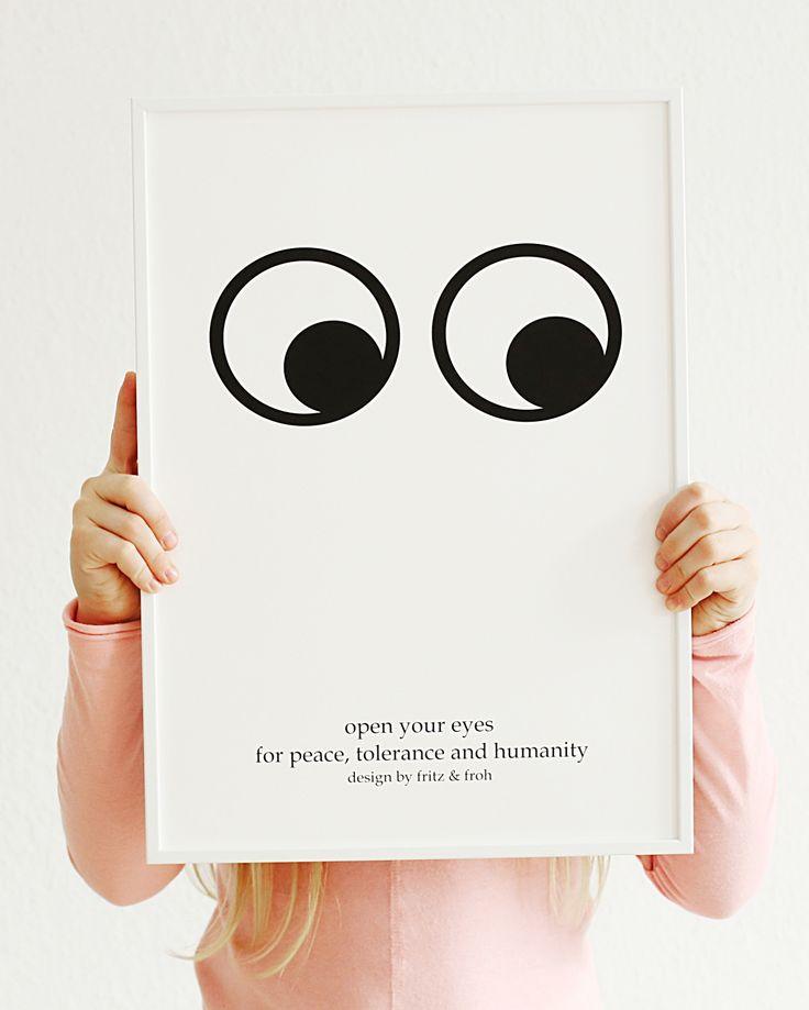 Kunstdruck OPEN YOUR EYES
