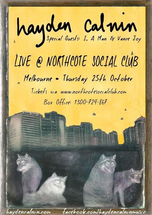 Hayden Calnin @ Northcote Social Club (Oct, 2012)