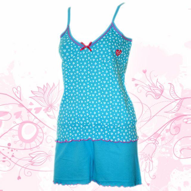 Womans Cotton Pajamas -blue babydoll