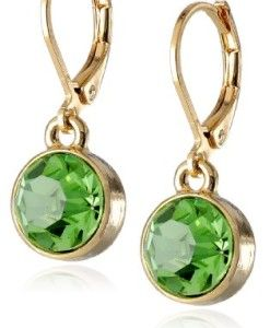 1928-Jewelry-Best-of-Times-14k-Gold-Dipped-Simulated-Peridot-Green-Faceted-Drop-Earrings-0