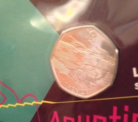 Rare 2011 Olympics Aquatics Swimming 50p Coin (rarer than Undated 20p & Kew 50p)