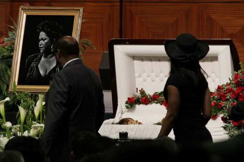 Celebrity open casket funerals. Blues singer Etta James ...
