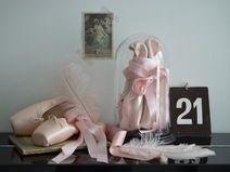 Shabby ROSA BALLETTSCHUHE Ballet  Spitzenschuhe