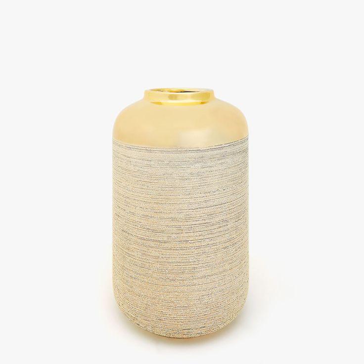 Imagen 1 del producto Jarrón de cerámica rayada