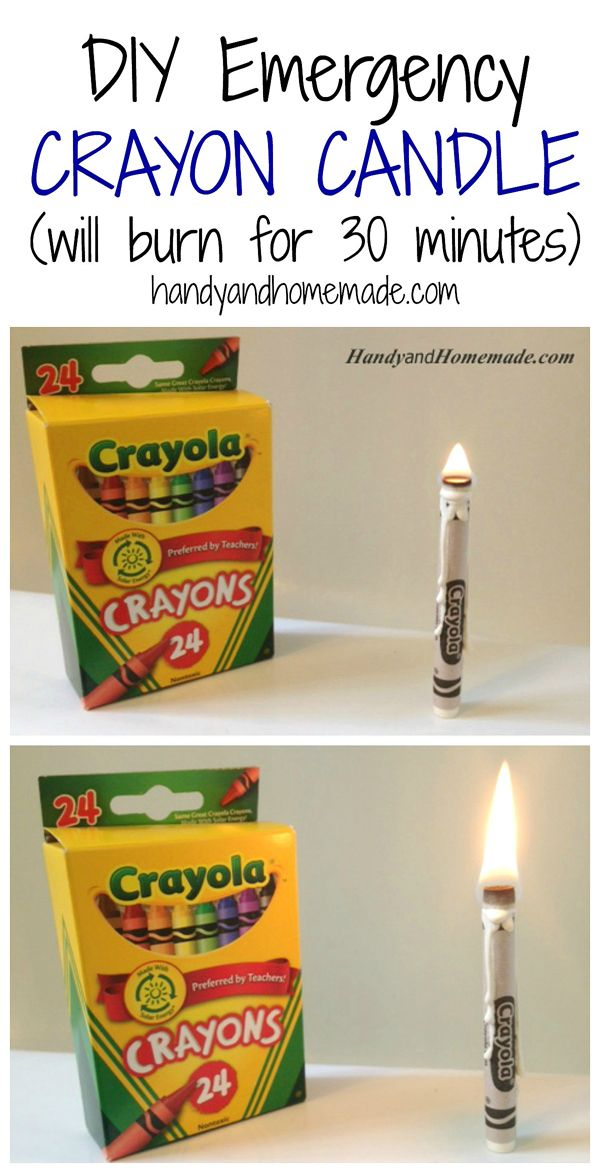 Use A Crayon As A Candle In An Emergency