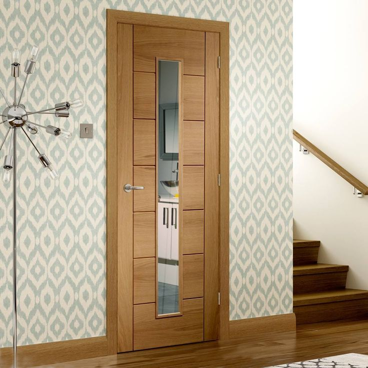 Door and Frame Kit Palermo Oak Door - 1 Pane Clear Glass - Prefinished : palermo doors - pezcame.com