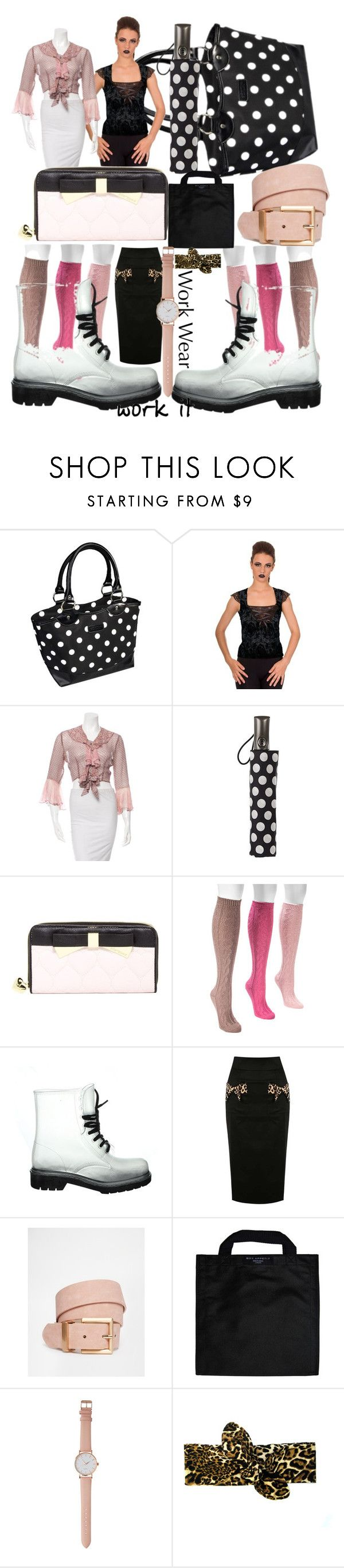 """""""not my job!!"""" by lerp ❤ liked on Polyvore featuring Anna Sui, Totes, Betsey Johnson, Muk Luks, ASOS, Black+Blum, women's clothing, women, female and woman"""