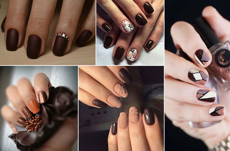 Καφέ νύχια: 30 υπέροχες προτάσεις μανικιούρ