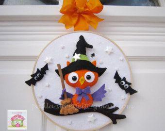 Corona di Gufo Halloween felice