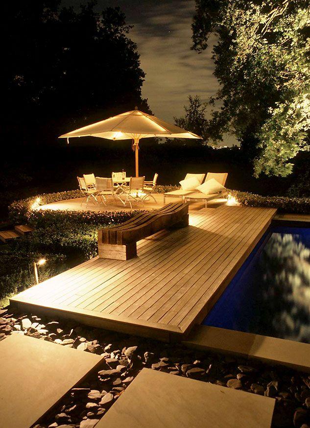 Outdoor lighting garden designed by anthony paul landscape design uk