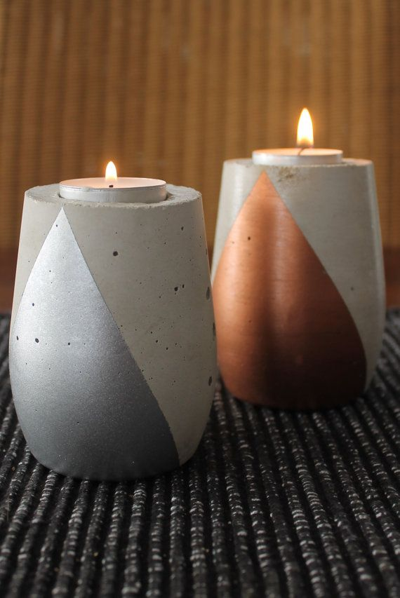 Moonrock Candle Votive Teardrop by nimwitstudio on Etsy