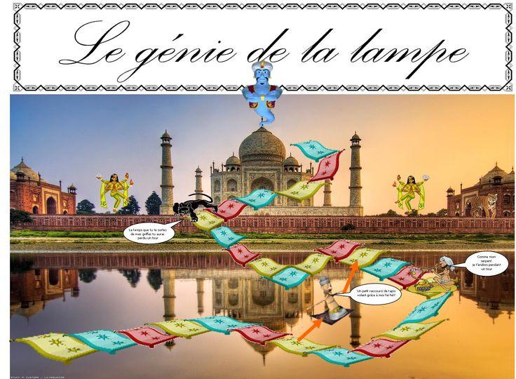 JEU de LECTURE COMPREHENSION début CE1 : Le Génie de la Lampe | BLOG GS CP CE1 CE2 de Monsieur Mathieu NDL