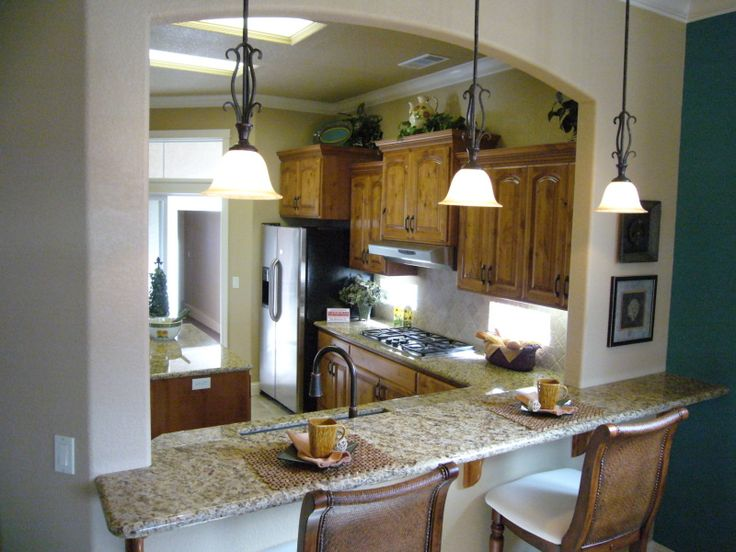 Breakfast bar between kitchen and dining room we 39 d just for Breakfast bar ideas for kitchen