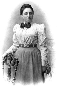 "Emmy Noether. German mathematician and physicist. Einstein called her a ""creative mathematical genius""."