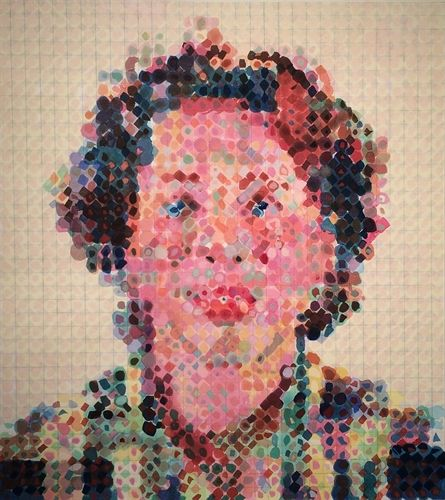 Leslie by Chuck Close on artnet Auctions