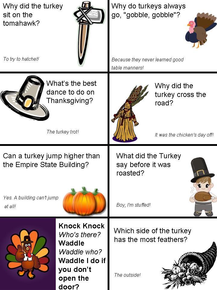 Thanksgiving lunch box jokes page 1 Thanksgiving kids