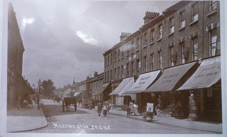 Mozart Street • Junction with Bravington Road • 1910