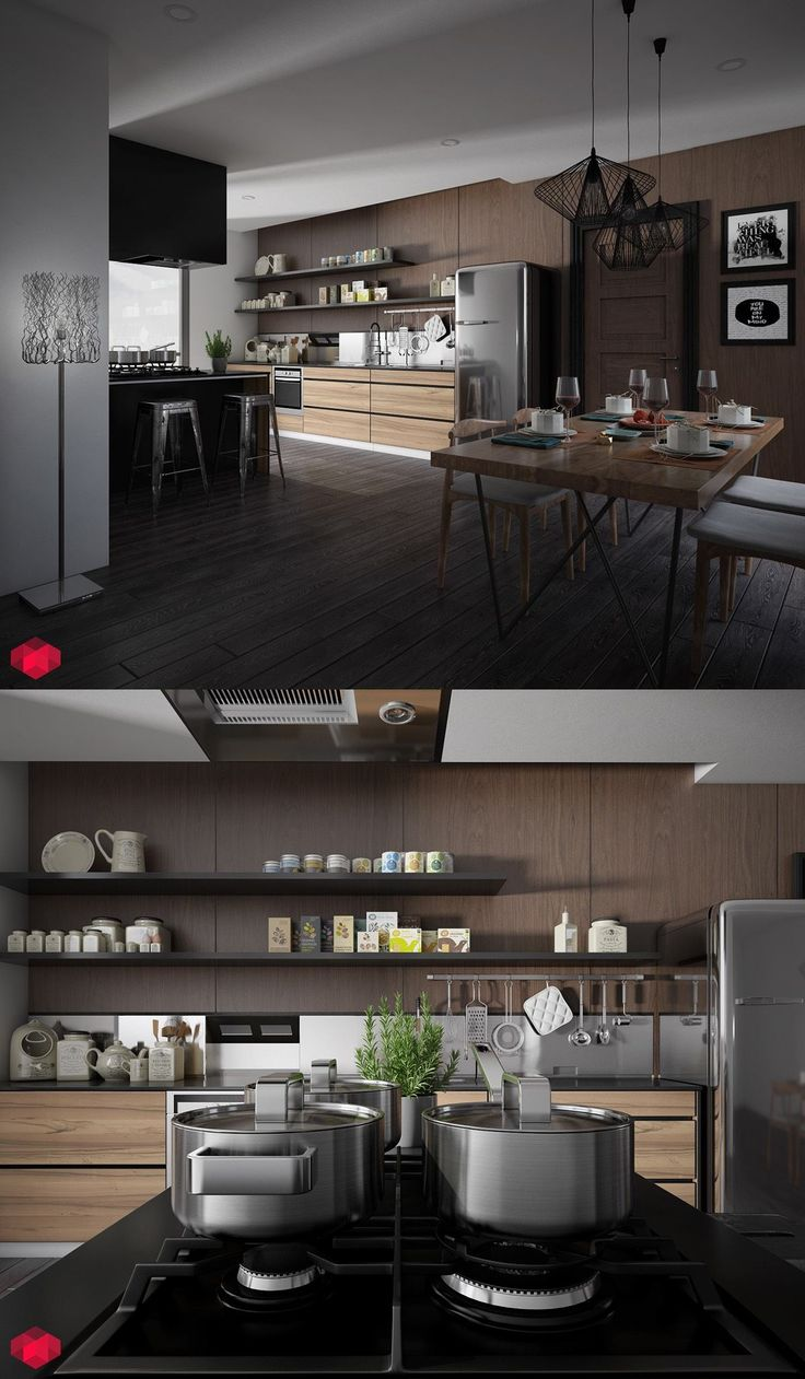 25 White And Wood Kitchen Ideas The