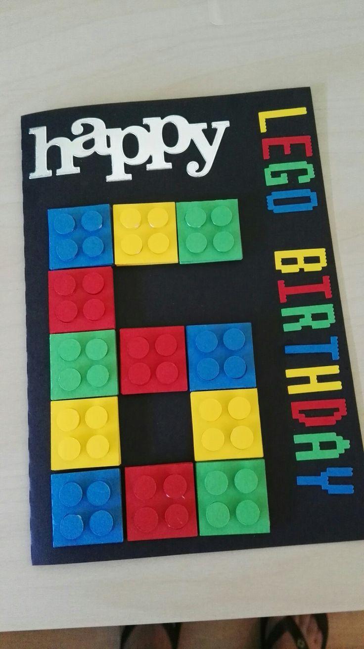 Tarjeta de cumpleaños LegoBirthday 6 años