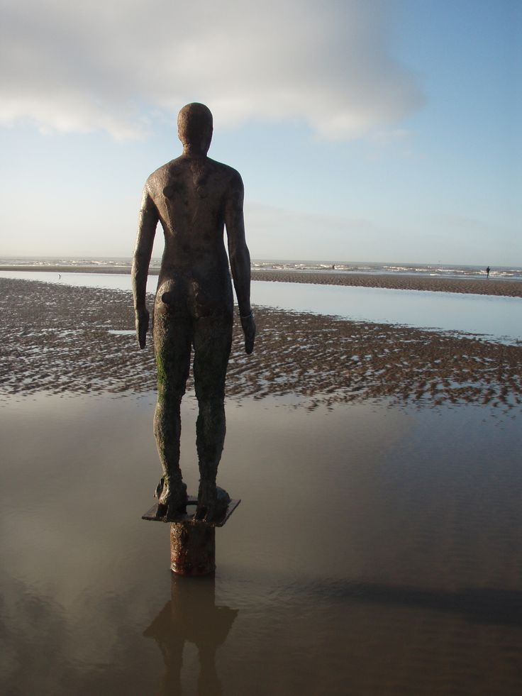 Crosby Beach, Liverpool.