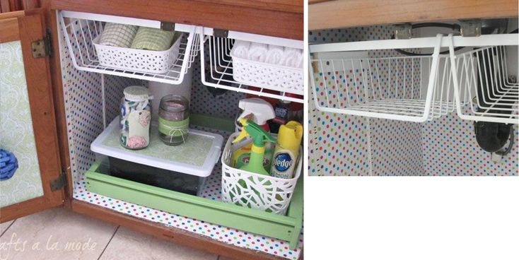 и еще подробности того же шкафа под раковиной : подробности: Подвесные полки, как на кухню: Для хранения косметики можно использовать специальные подставки, а…