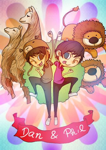 Dan and Phil Cartoon Poster – Dan & Phil Shop