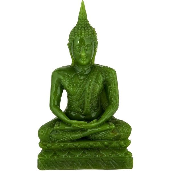 Pre-owned Resin Buddha Figurine (€150) ❤ liked on Polyvore featuring home, home decor, green, buddha home decor, green home decor, buddha figurines, resin figurines and buddha figure