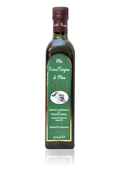 Produzione olio extravergine di oliva - ''Fruttato'' - Bottiglia da 0,50 Lt.