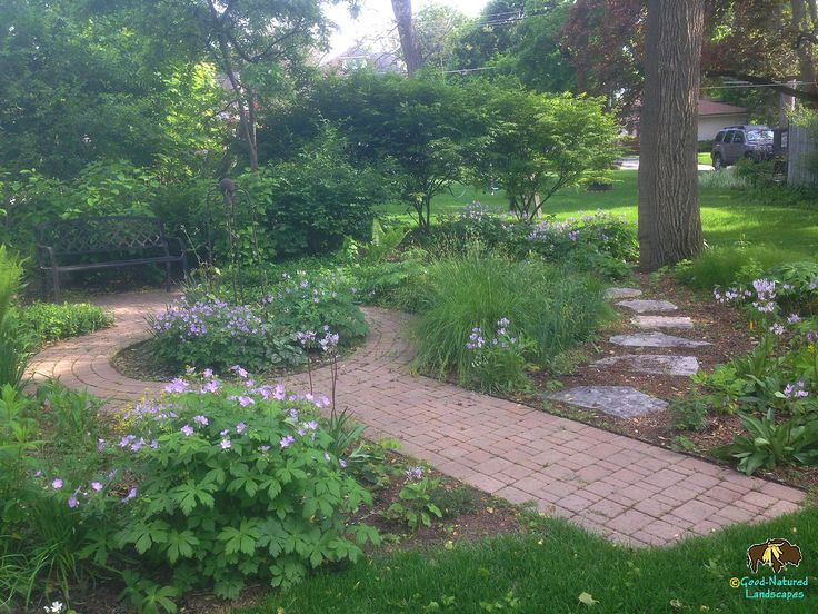 Permeable Walkway, Wildlife Habitat, Recycled And Local Materials Front  Door Landscape Photo