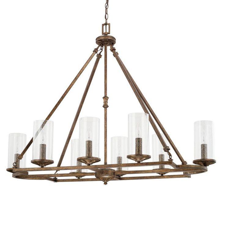 Capital Lighting 817681-376 Avanti 8 Light 1 Tier Chandelier Rustic Indoor Lighting Chandeliers