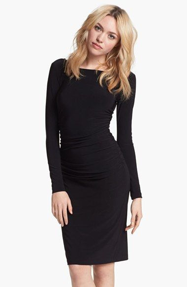 Free shipping and returns on KAMALIKULTURE Shirred Long Sleeve Dress at Nordstrom.com. Strategic ruching at the side and center-back seams heightens the feminine impact of a bateau-neck dress with just the right amount of stretch.