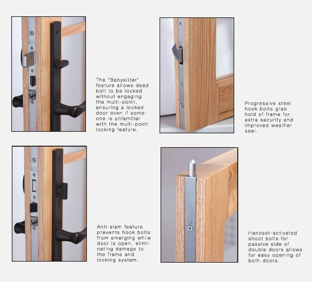 Door multi point lock features of High Security doors  sc 1 st  Pinterest & 20 best Panic and Emergency Exit Hardware images on Pinterest ... pezcame.com