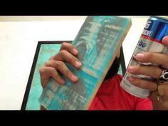 Acabado vintage con pintura base de agua - YouTube