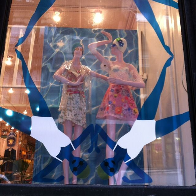 Jump on in - store windows at Opening Ceremony NYC