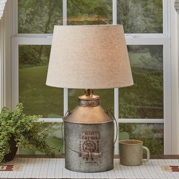 Hill Farms Milk Can Lamp With Shade Piper Classics Lamp Milk Cans Farmhouse Lamps
